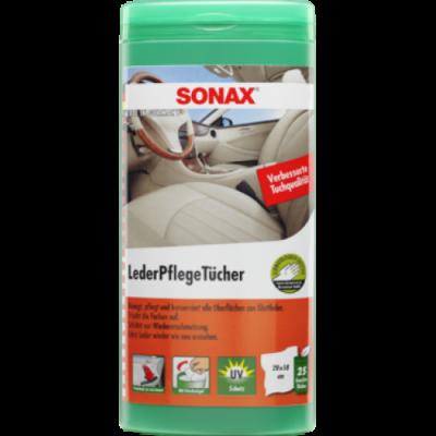 SONAX Čistiace utierky na kožu - s Jojobovým olejom