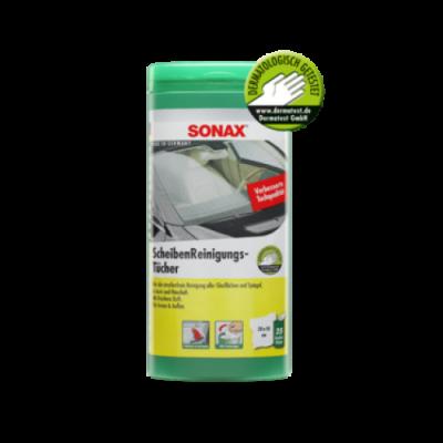 SONAX Čistiace utierky na sklo - plastový box